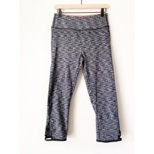 Athletic Collection Heathered Gray Capris Leggings